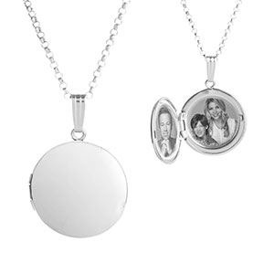Shine On Sterling Silver Round Engraved Lockets