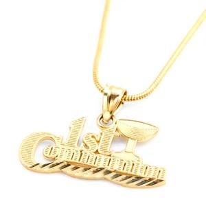 14k Gold 1st Communion Pendant for Kids Necklace