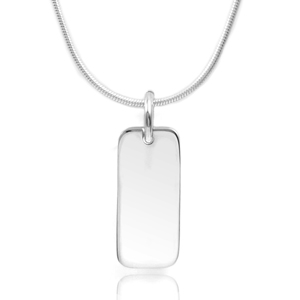 Gorgeous in Silver Custom Bar Pendant