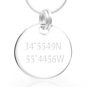 Convex Sterling Silver Personalized Pendant