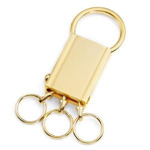 Trio Gold Plated Personalized Keychain