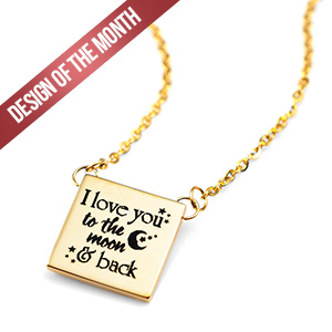 Design of the Month Engraved Necklace