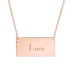 New Rose Gold Custom Bar Necklace