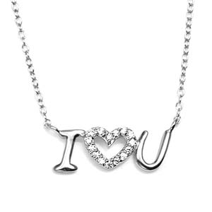I Heart You Sterling Silver Custom Necklace
