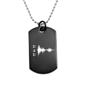 I Love You Soundwave Dog Tag for Dad