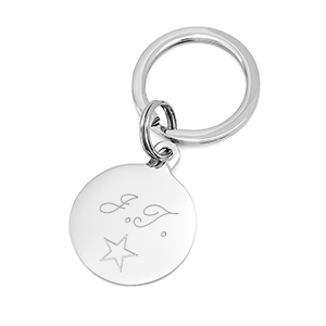 Personalized Keychain with Round Tag