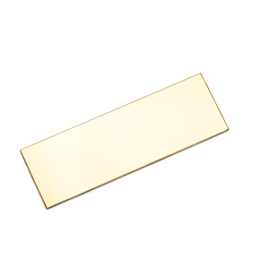 Personalized Rectangle Brass Plate