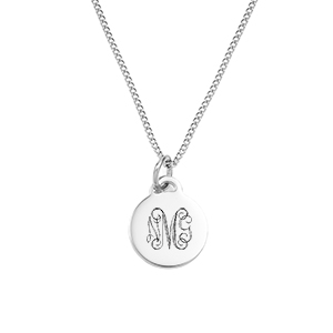 Petite Silver Pendant Engraved Necklaces for Her