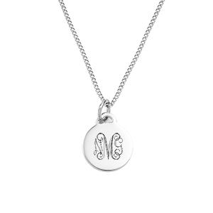 Petite Silver Pendant Custom Necklace