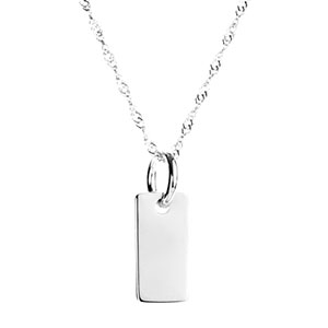 Petite Sterling Silver Custom Engraved Pendant