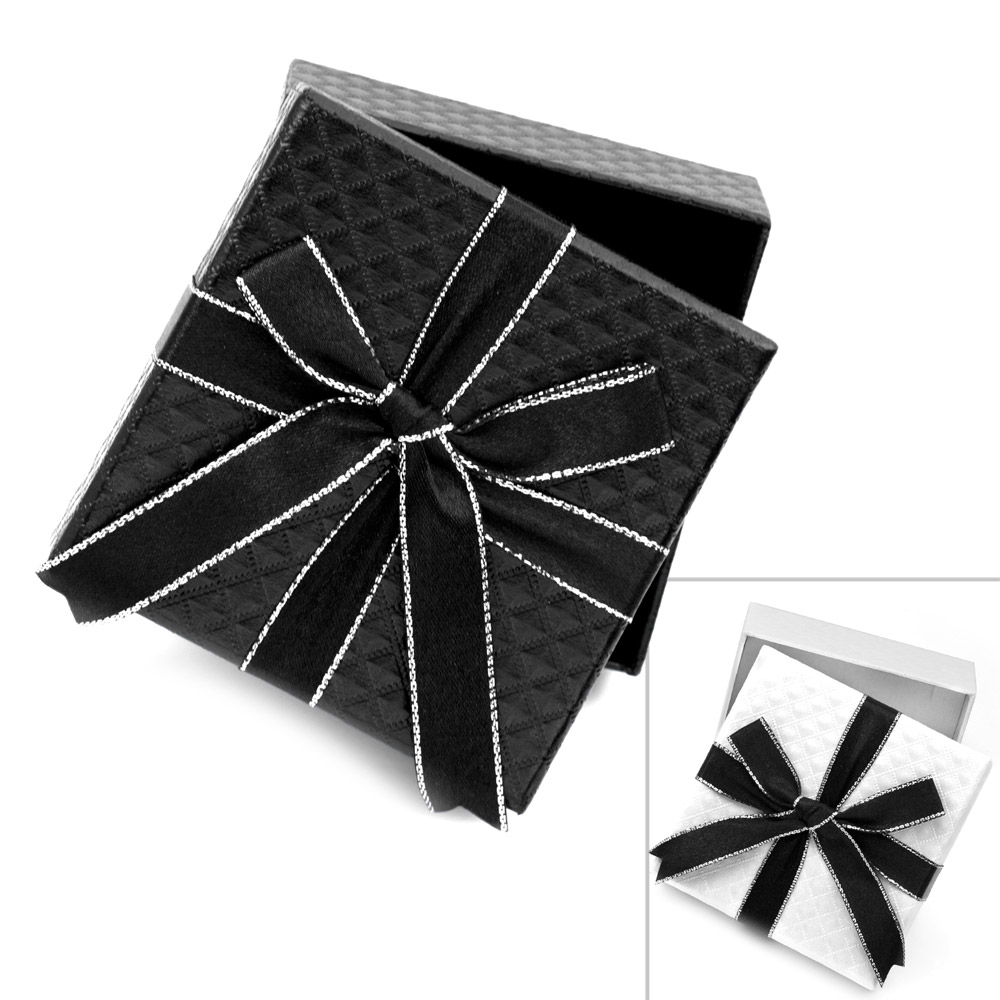 Black or White Gift Box & Bow