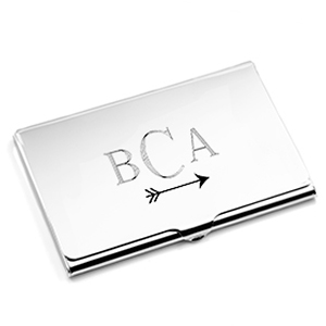 Polished Silver Plated Business Card Case