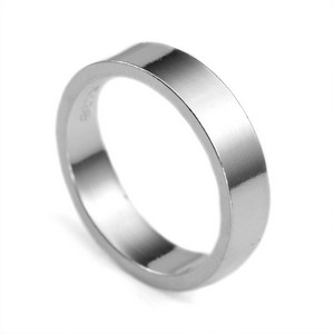 Sterling Silver Flat Band Custom Rings
