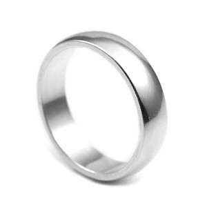 Sterling Silver Band Engraved Ring Size 6