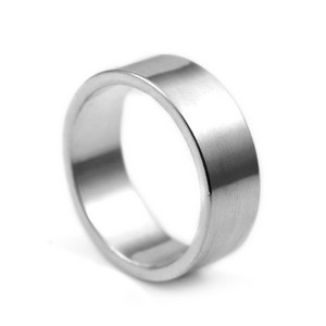 Sterling Silver Flat Band Engraved Rings