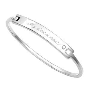 Sterling Silver Engravable Bangle Bracelet