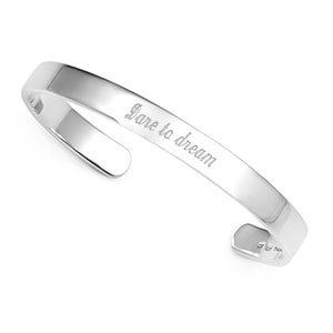 Personalized Sterling Silver Cuff Bracelet for Her