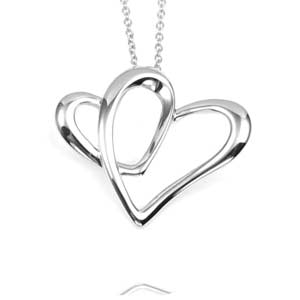 A Part of My Heart Personalized Sterling Silver Necklace