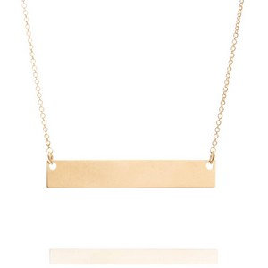Premium 14K Gold Bar Necklace 18 - 20 In