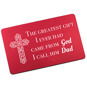Gift From God Personalized Wallet Card for Dad