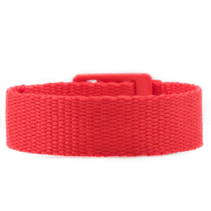 Red Strap for Slide On ID Tags LG Fits 4 - 8 Inch
