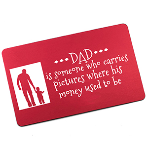 Red Wallet Card for Dad