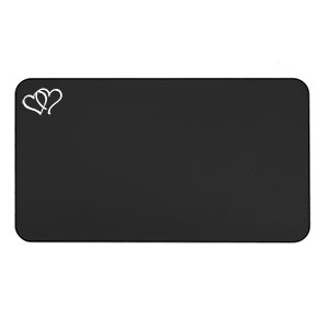 Romantic Gift Personalized Wallet Card Black