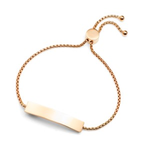 Rose Gold Bolo Personalized Bracelet for Her