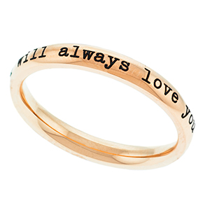 Stackable Rose Gold Engravable Ring