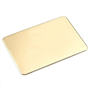 Rounded Corner Rectangle Engraved Brass Plate