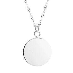 Engravable Sterling Silver Pendant