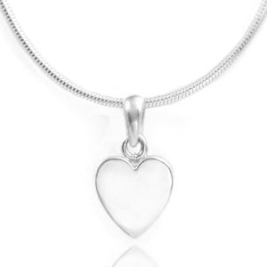 Petite Engravable Silver Heart Pendant
