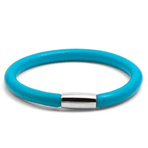 Juliet Turquoise Soft Leather Silver Tone Bracelet