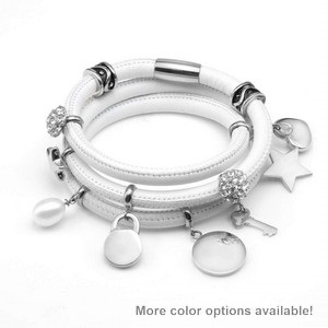 Echo Soft Leather Silver Charm Wrap - Deluxe Deal