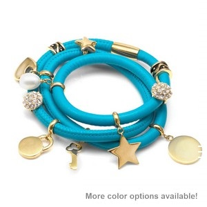 Echo Soft Leather Gold Charm Wrap - Deluxe Deal