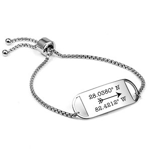 Adjustable Engravable Bracelet For Her
