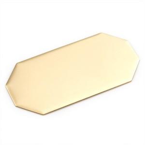 Wide Octagon Brass Plate 3 1/4 x 1 5/8 Inch