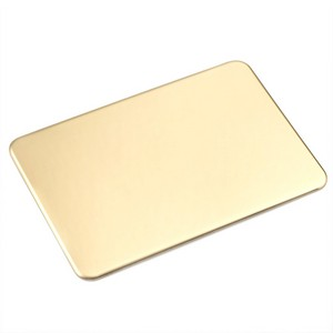 Rounded Corner Rectangle Brass Plate 4 1/4 x 3 Inch