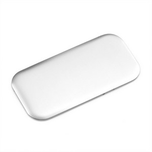 Rounded Corner Rectangle Silver Plate 2 x 1 Inch