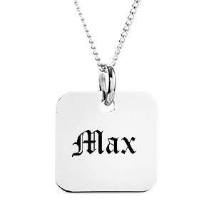Silver Charms Engravable Necklace