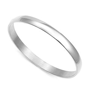 Silver Engraved Bangle Bracelet - 65mm Diameter 8 Inch