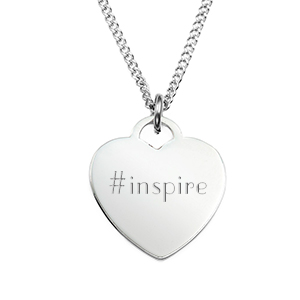Silver Heart Style Engraved Necklaces