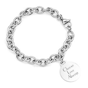 Silver Custom Charm Bracelet for Her