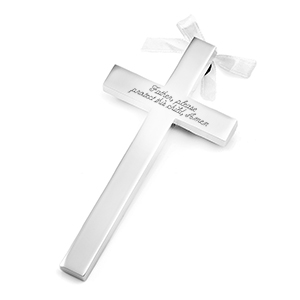 Silver Personalized Wall Cross