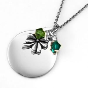 Lucky You Custom Engraved Pendant