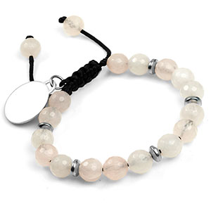 Moonlight Rose Quartz Engravable Bracelets for Her