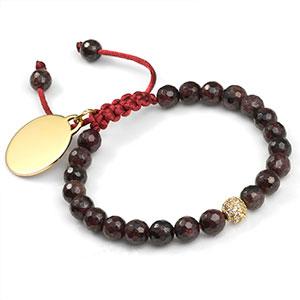 Delilah Personalized Garnet Bracelet