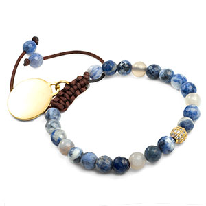 Ocean Blue Adjustable Sodalite Bracelet