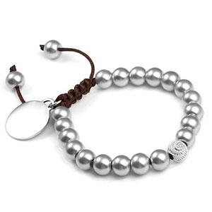 Dana Silver Adjustable Macrame Bracelet