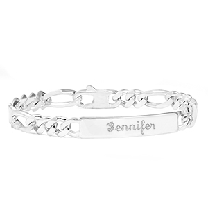 Sterling Figaro Personalized Bracelets